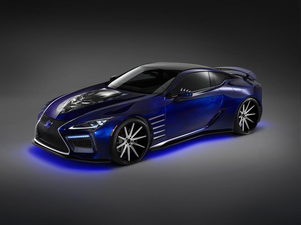 Autoprofix _lexus_lc_500 синий на чёрном